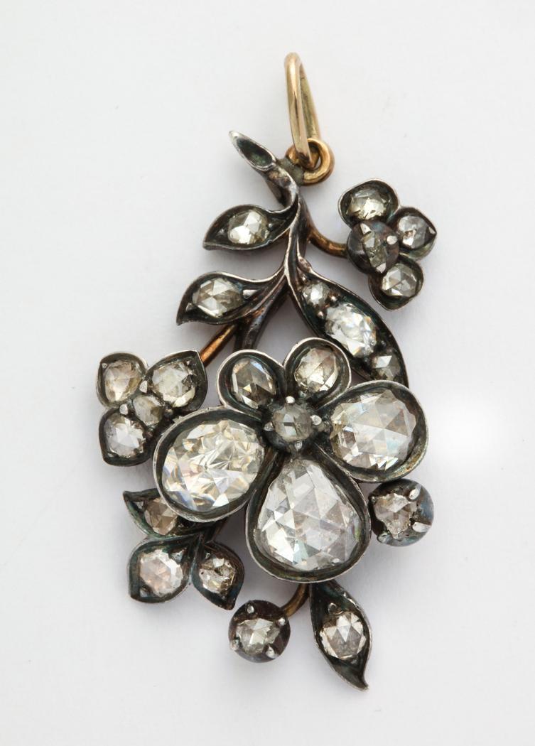 Georgian Rose Cut Diamond Pendant