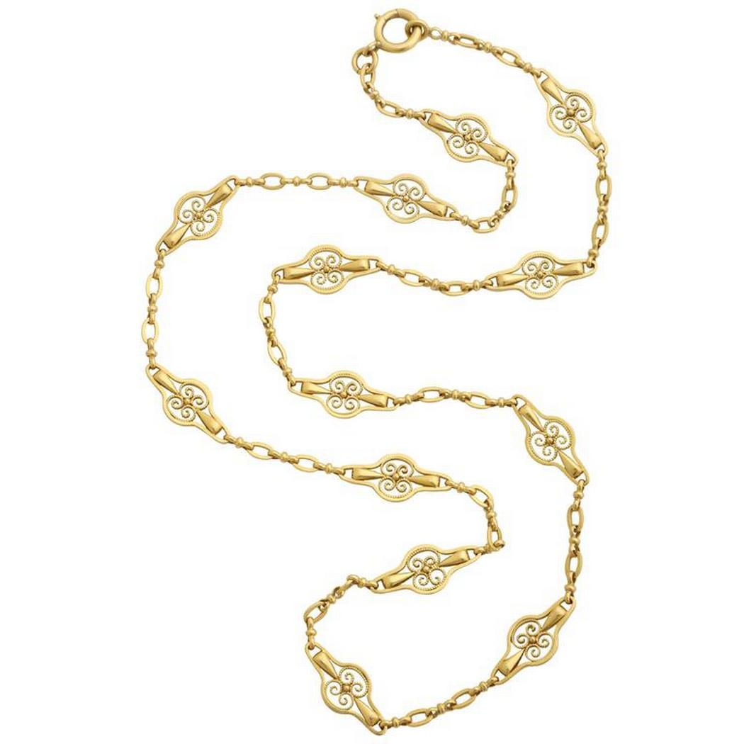 French Belle Epoque Gold Chain