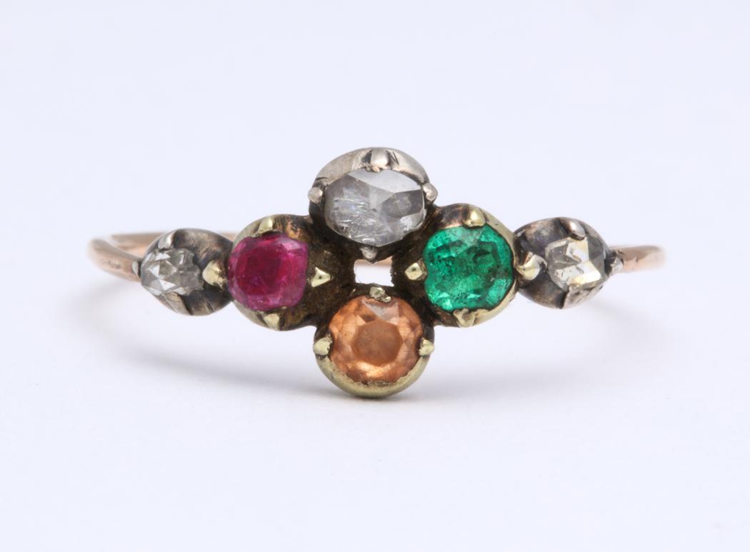 Foiled Back Harlequin Ring
