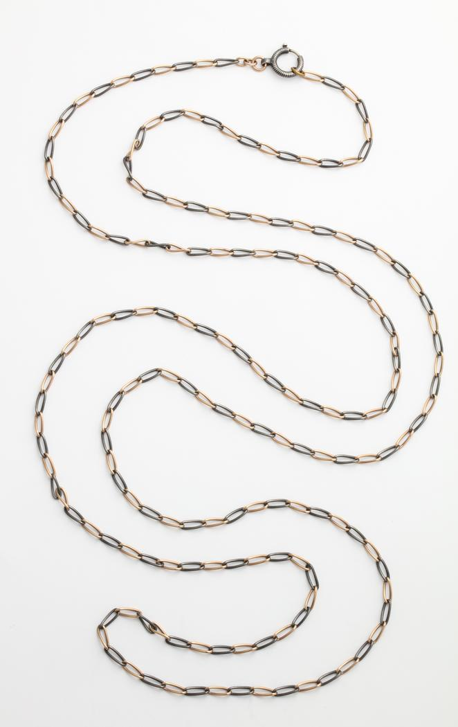 Long Victorian Niello Chain